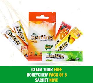 get free sample of honeychew