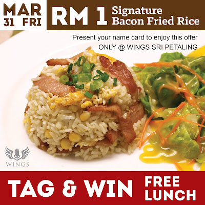 Wings Musicafe Signature Bacon Fried Rice RM1 Discount Promo
