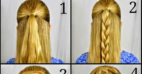 Swept Up Rose Braid Bun Hairstyle Step By Step