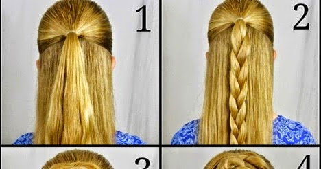 Swept Up Rose Braid Bun Hairstyle Step By Step