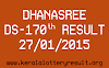 DHANASREE Lottery DS-170 Result 27-01-2015