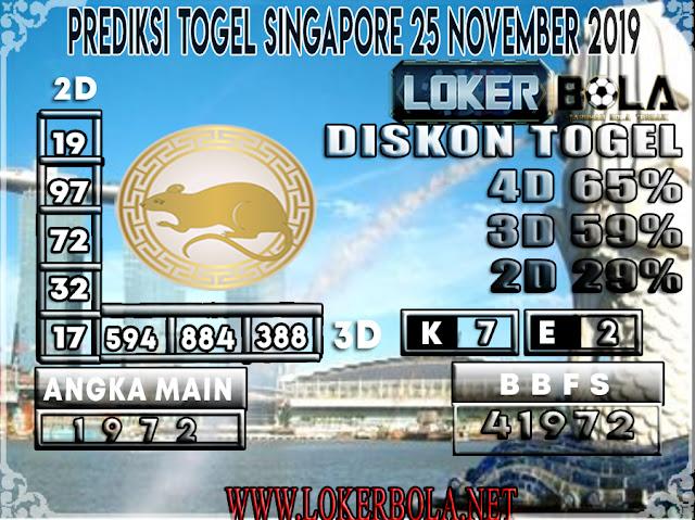 PREDIKSI TOGEL SINGAPORE LOKERBOLA 25 NOVEMBER 2019