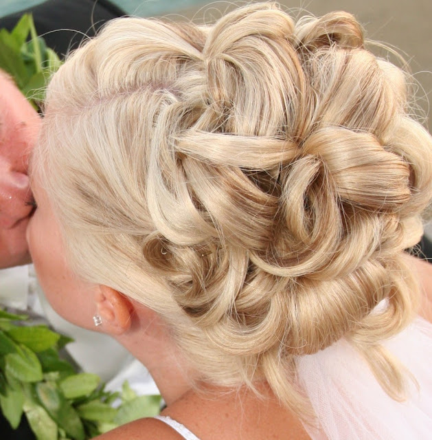 Elaborate Wedding Hairstyle.