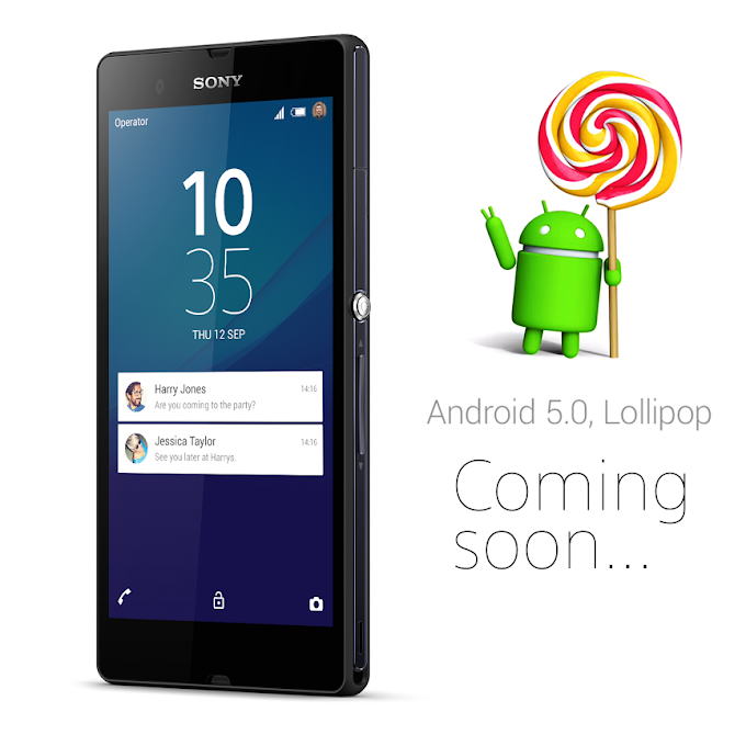 Sony Xperia Z will receive Android Lollipop update soon
