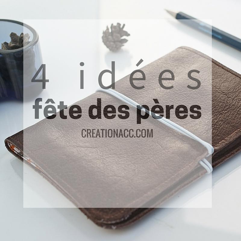 Bevorzugt 4 idées cadeau pour la fête des pères - portefeuille en cuir fait  GD95