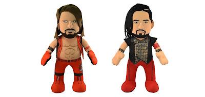 "WWE AJ Styles & Shinsuke Nakamura 10"" Bleacher Creatures Plush Figures"