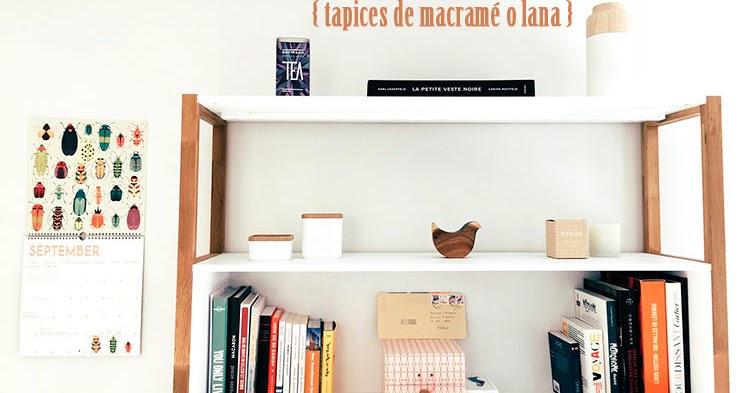 Tapices De Macrame O Lana Cafe Largo De Ideas Decoracion - Tapices-de-lana