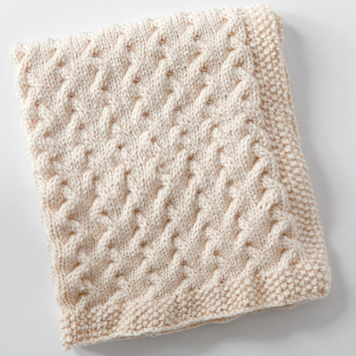 Tiny Ripples - Free Baby Blanket Knitting Pattern