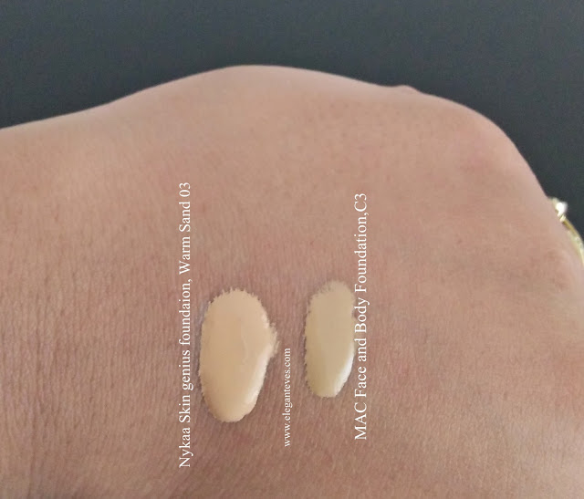 Nykaa skingenius vs MAC face and body