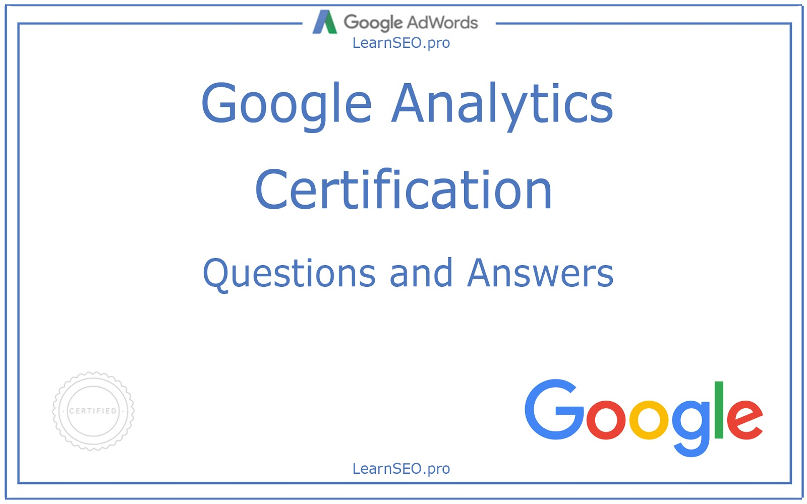 Google Analytics Certification Questions And Answers Learnseoo