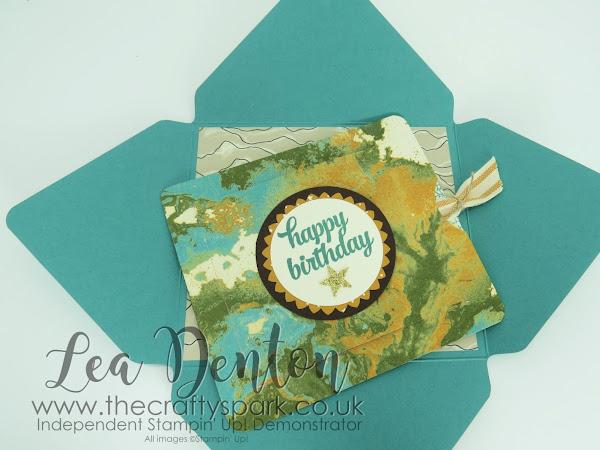 Going Global Masculine Gift Card Holder Slider Card Stampin' Up! UK part 2 of 2