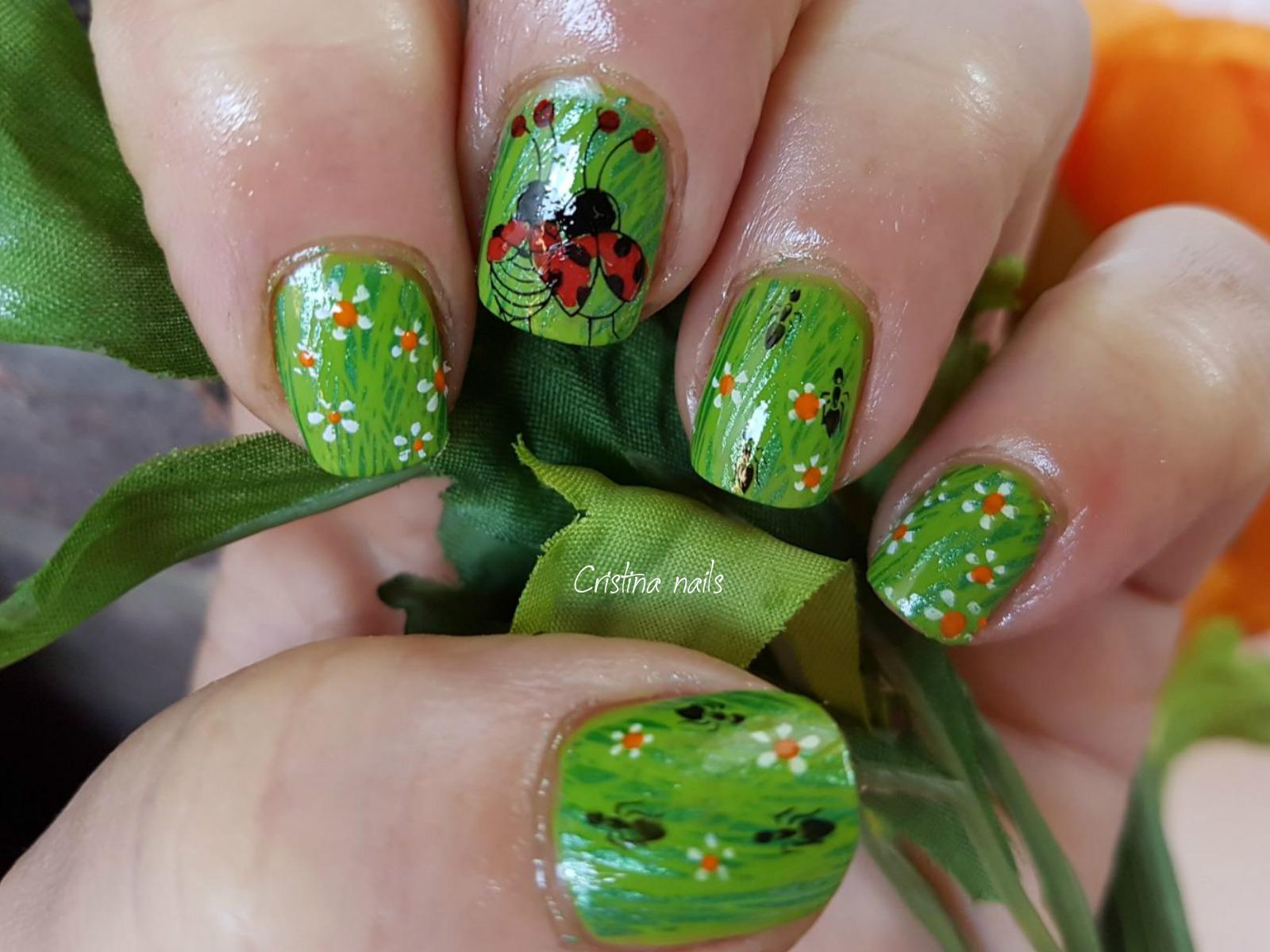 Encantador Diseños De Uñas Mariquita Cresta - Ideas Para Pintar Uñas ...