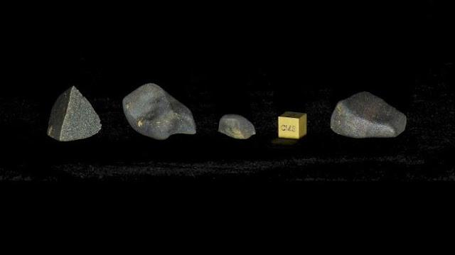 Amostras do meteorito de Aguas Zarcas