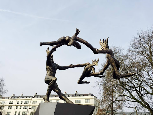 Defying Gravity: Bushra Fakhoury's Danse Gwenedour sculpture unveiled at Marble Arch
