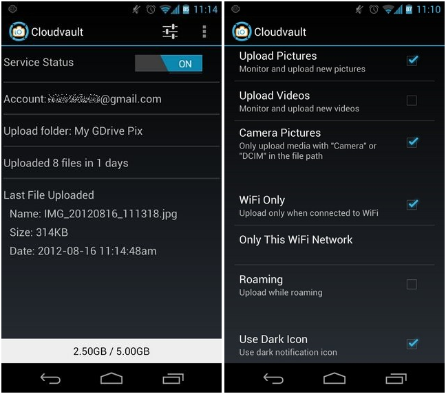 CloudVault: Instant Photo & Video Upload From Android To