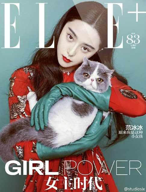 Actress, Singer @ Fan Bingbing - Chen Man Photoshoot for Elle China August 2016