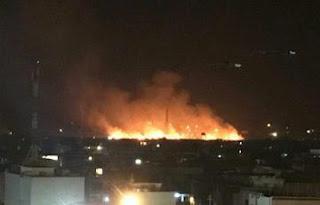 انفجار مخزن للعتاد تابع لمليشيات الزيرفاني التابعة لمسعود برزاني  في اربيل