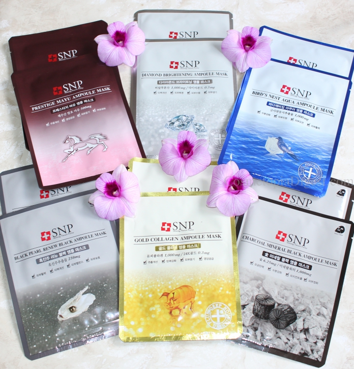 SNP Sheet Masks for Hydration in Dry Weather