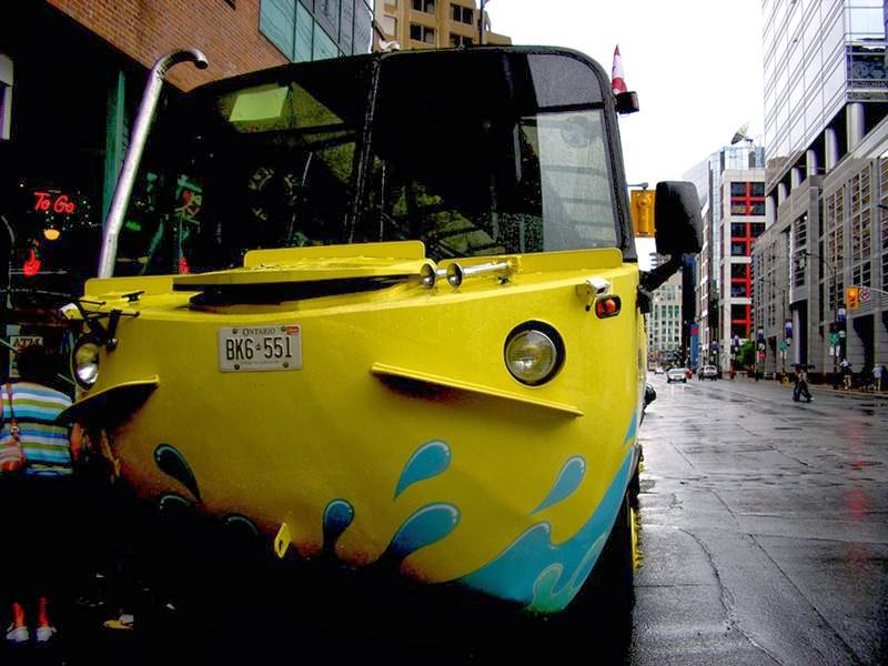 Canada, Toronto, floating bus, Harry Hippo, amphibious bus, Toronto Photos, Canada City, amfibusy, transportation in Toronto, sightseeing tours in Toronto, Toronto attractions