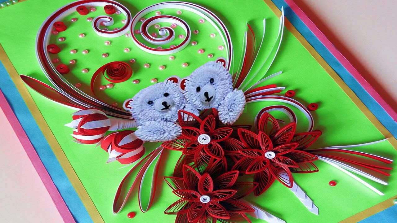 paper quilling how to make valentine 39 s day greeting