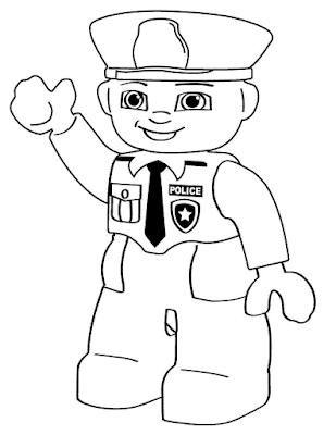 Gambar Mewarnai Lego - 6