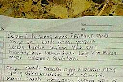 Mengharukan! Dari Dalam Penjara Jonru Kirim Surat Dukungan Untuk Prabowo - Sandi