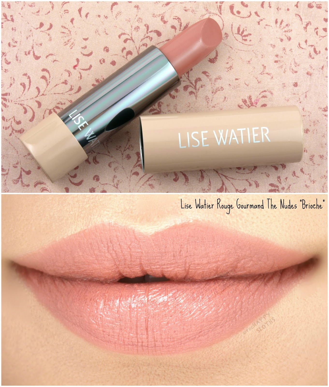 Lise Watier Rouge Gourmand The Nudes Lipstick   Brioche: Review and Swatches