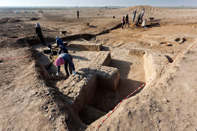 Buildings and Temple dated to 3,000 BC unearthed at Tel Zurghul in Iraq