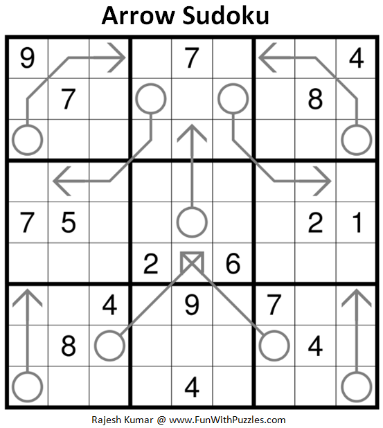 Arrow Sudoku Puzzle (Daily Sudoku League #191)