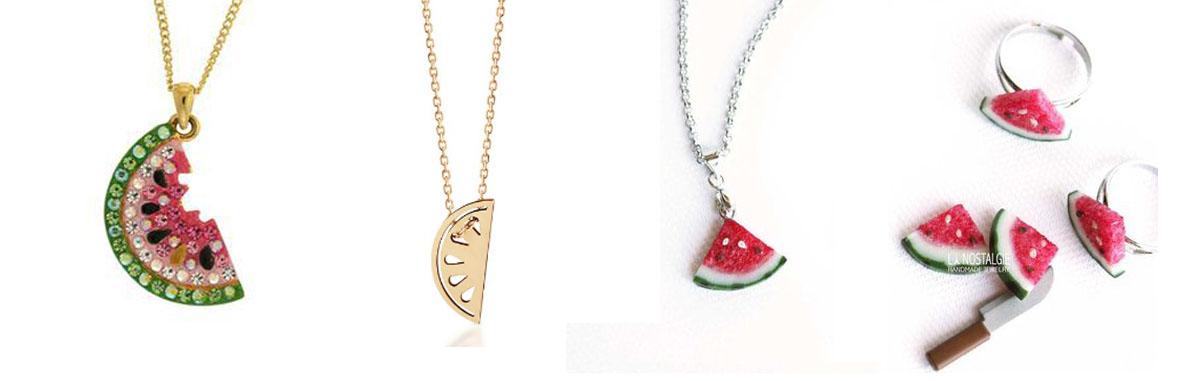 modne arbuzy, biżuteria arbuzowa