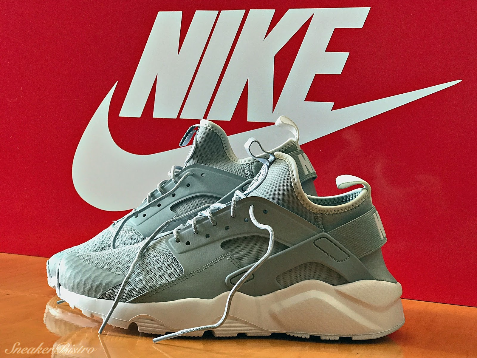 aaa4d662be9 Nike Air Huarache Run Ultra Wolf Grey Pale Grey-White. Release Info
