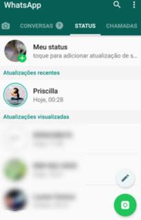 Como achar o status de um contato