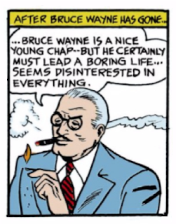 "Detective Comics (1937) #27 Page 6 Panel 8: Commissioner Gordon muses about Bruce Wayne's apparent apathy despite his being a ""nice guy."""