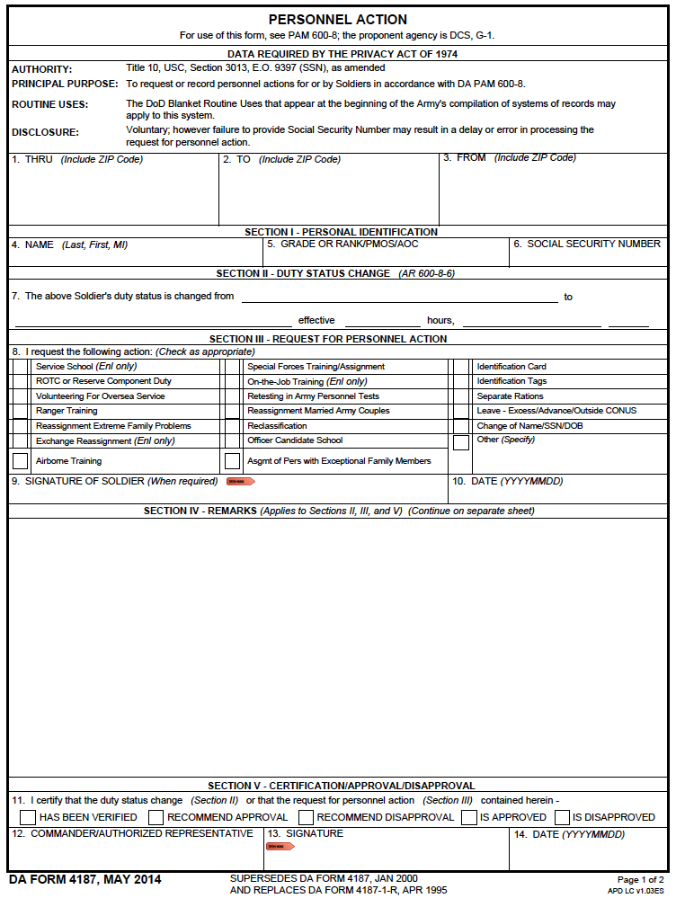 compassionate reassignment, for aviation badge, driver's badge, for combat action badge, deletion orders, change mos, separate rations, on da form 4187 macp example
