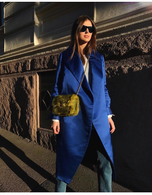 blue satin coat