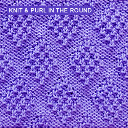 Moss Diamond - knitting in the round