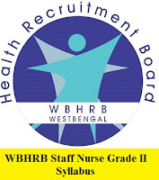 WBHRB Staff Nurse Grade II Syllabus