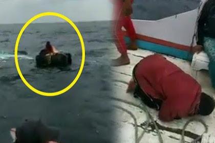 Jadi Viral! Video Penyelamatan Nelayan yang Terombang ambing di Laut, Sujud Syukur seusai Diselamatkan | JabarPost Media