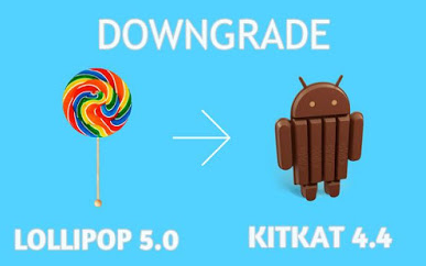 Cara Mudah Downgrade dari Lolipop ke  Kitkat Tanpa PC via TWRP