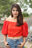 Rhea Chakraborty in Red Crop Top and Denim Shorts Spicy Pics ~  Exclusive 311.JPG