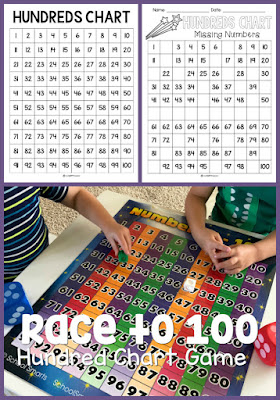 Kids playing Hundred Chart math game