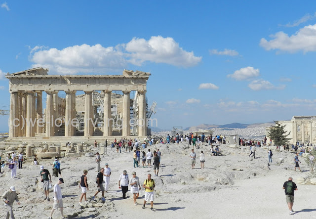 The view looking back to the Parthenon from another vantage point