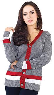 Sweater Wanita Lengan Garis Original INFICLO