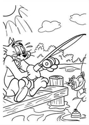 Tom And Jerry Coloring Pages Fantasy Coloring Pages