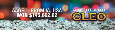 Bovada casino pays big on A Night With Cleo slot game