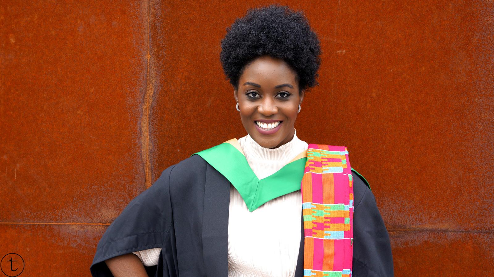 my graduation ceremony at GCU London it's true blog msc international fashion marketing