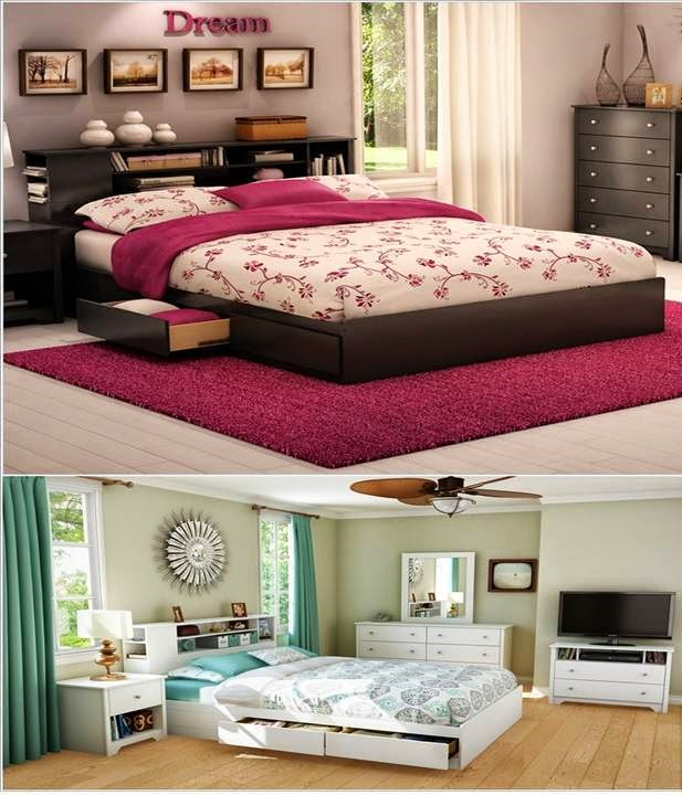 Clever storage ideas to use bedroom furniture for small - Clever furniture for small bedrooms ...