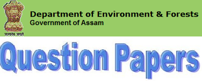 Assam Forest Dept Model Question Paper 2017 Answer Key