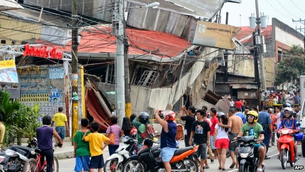 Barely standing building | Cebu Bohol Earthquake