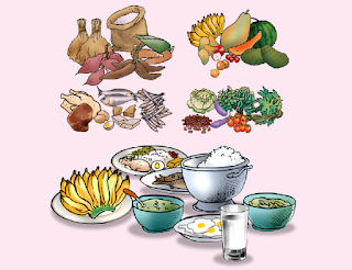 Makan beragam makanan secara proporsional dengan pola gizi seimbang dan lebih banyak daripada sebelum hamil.